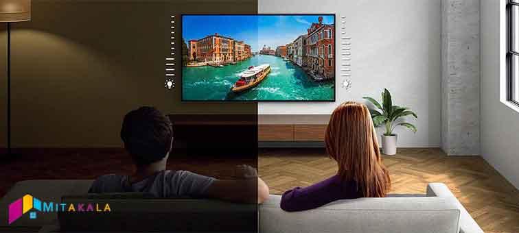 تنظیم خودکار نور با محیط در تلویزیون 55X8000J